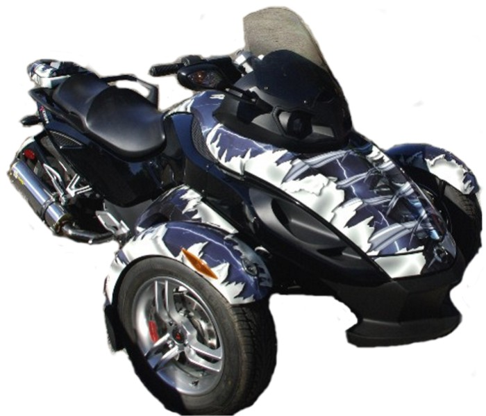 CAN-AM SPYDER VINYL WRAP, BRP, Motorcycle Decal Kits