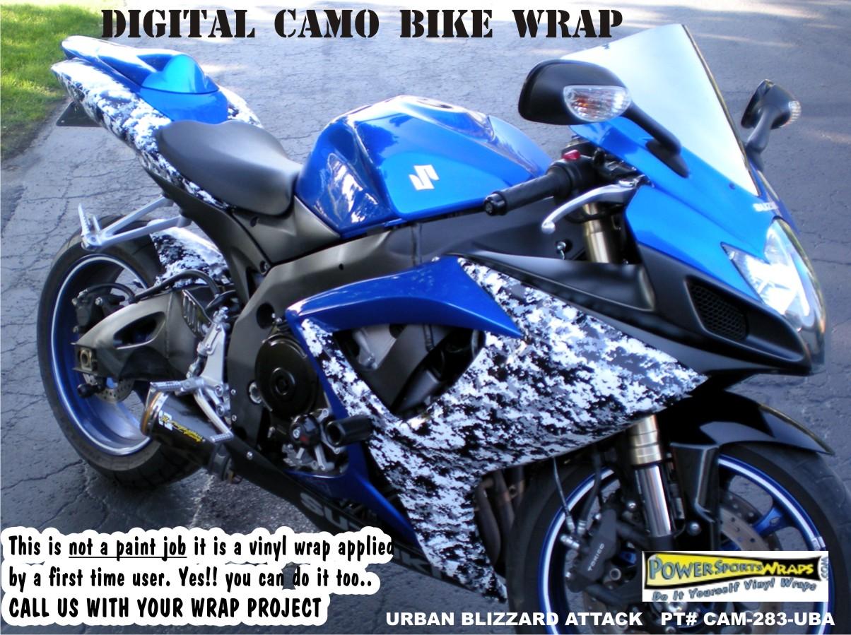 Suzuki Gsxr Vinyl Wrap Digital Camo Camo Wraps