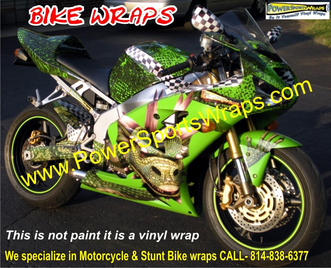 Dragon Bike Wrap Kawasaki 636 Vinyl Bike Wrap