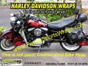 Harley Flames vinyl wrap from PowerSportsWraps.com