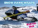 Sled wraps, Snowmobile wraps, Snowmobile decals, Snow Hawk wrap, Snow mobile wraps starting at $65.00 per sheet, Snowmobile racing decals