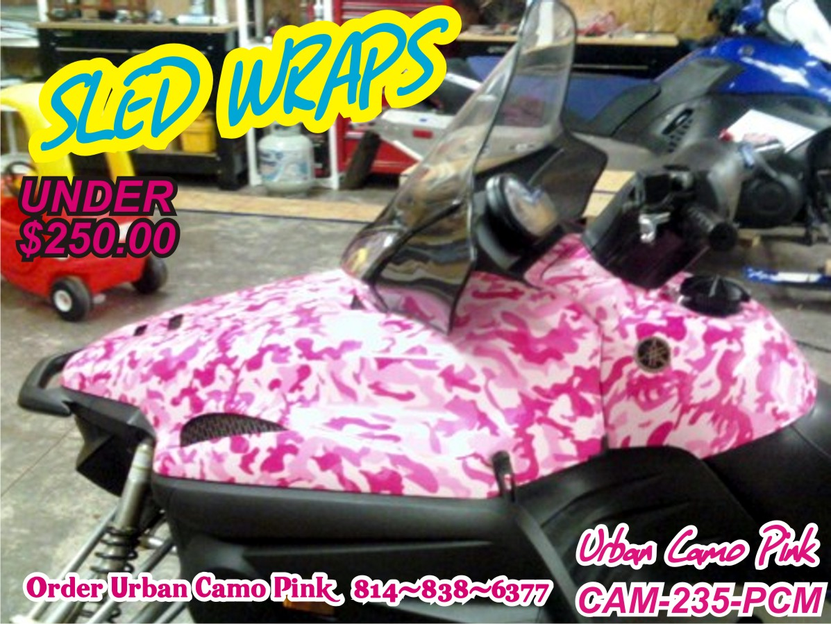 Snowmobile vinyl waps for all brands of sleds, Sled wraps, do it your self sled wraps 814-838-6377