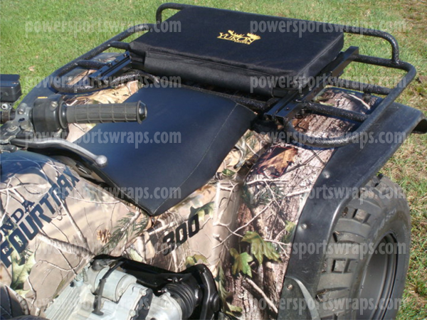 ATV Camouflage wrap applied by a first time user.. Camo your ATV .. don't buy new plastics
