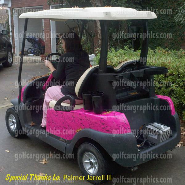 golf cart pink satin vinyl wrap pink golf cart decals diy golf cart wraps. Black Bedroom Furniture Sets. Home Design Ideas
