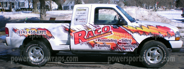 Ford Ranger Vinyl Wrap For Raco Contractors Erie Pa