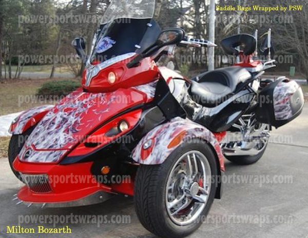 Can Am Spyder Rs Custom Flame Wrap Multi Piece Graphics Kit