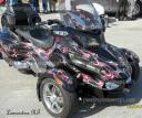 lamonsters can am Spyder RT custom wrap applied by PowerSportsWraps.com
