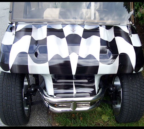Checker Flag vinyl wrap, Checker Flag