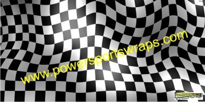 Racing Vinyl Vehicle Wrap Checker Flag Wrap Race Team