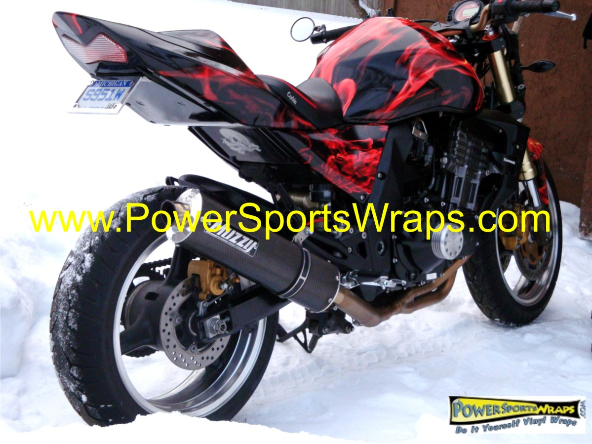 Kawasaki Z Wrap Archives Powersportswrapscom - Vinyl bike wrapmotorcycle wrap archives powersportswrapscom