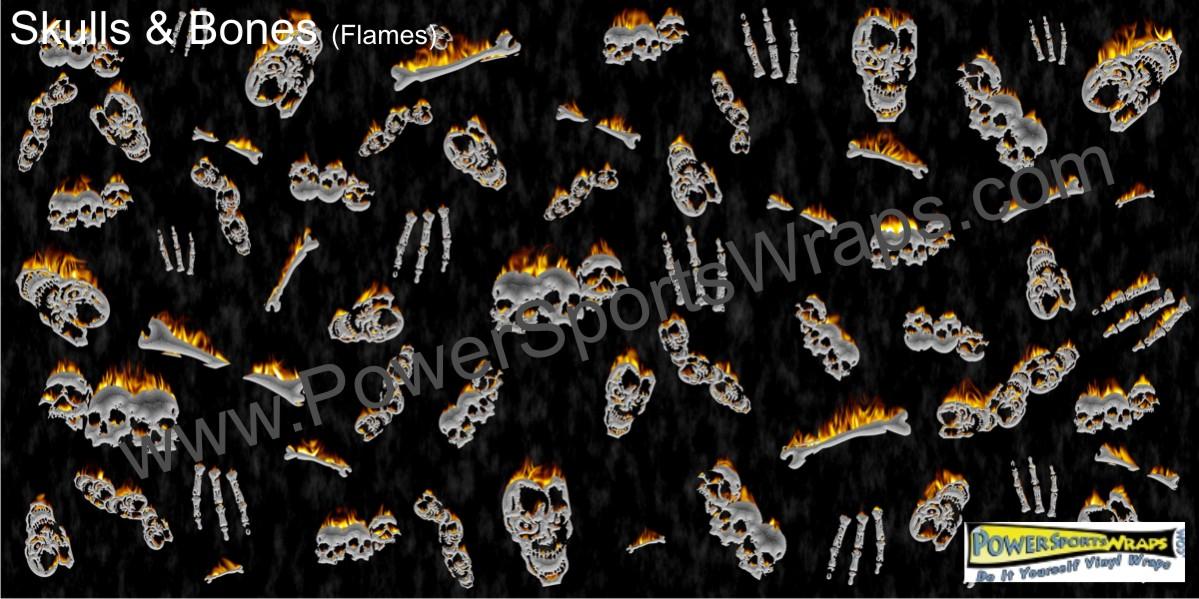 Skull Vinyl Wrap Skulls Wrap Skull Decal Wrap Skull