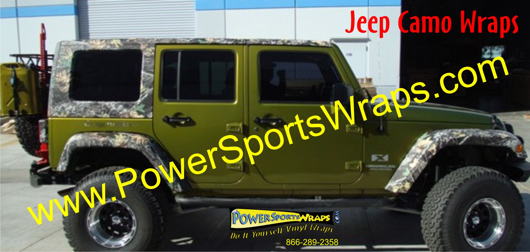 Jeep Camo available at Power Sports Wraps
