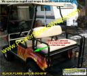 GOLF CAR FLAME WRAP, GOLF CART FLAME WRAP, GOLF CART FLAME DECALS