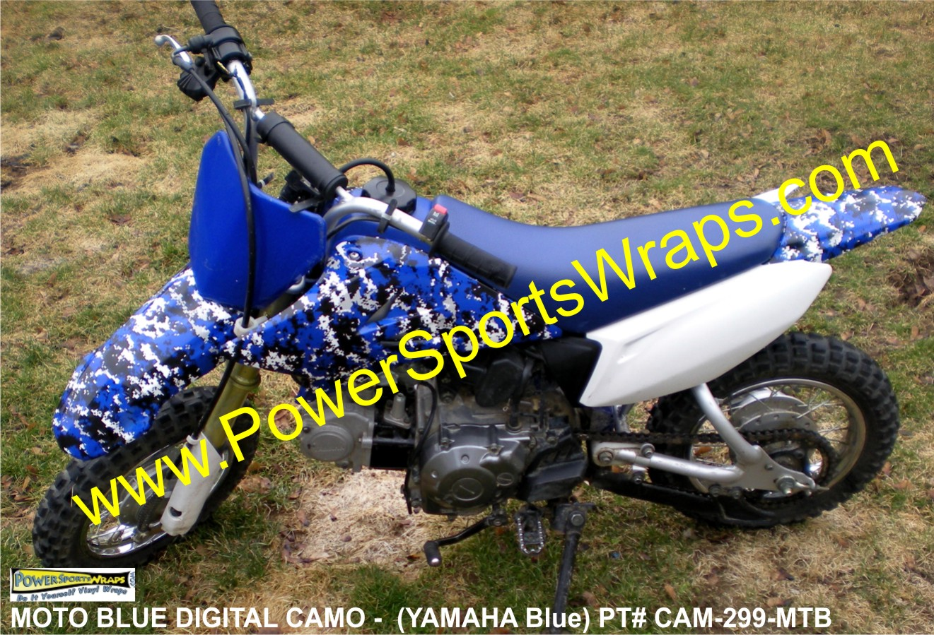 YAMAHA, YAMAHA CAMO, YAMAHA BLUE CAMO, DIGITAL CAMO, BLUE DIGITAL CAMO, CAMOUFLAGE BLUE, CAMOFLAGE, MOTORCYCLE, DIGITAL CAMO, YAMAHA DECALS, YAMAHA CAMO DECALS, BLUE CAMO DECAL, PIT BIKE DECALS