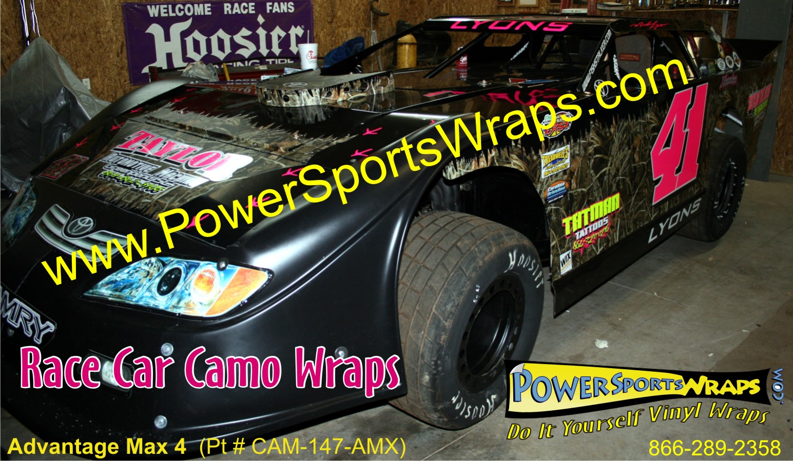 race car camo available at Power Sports Wraps
