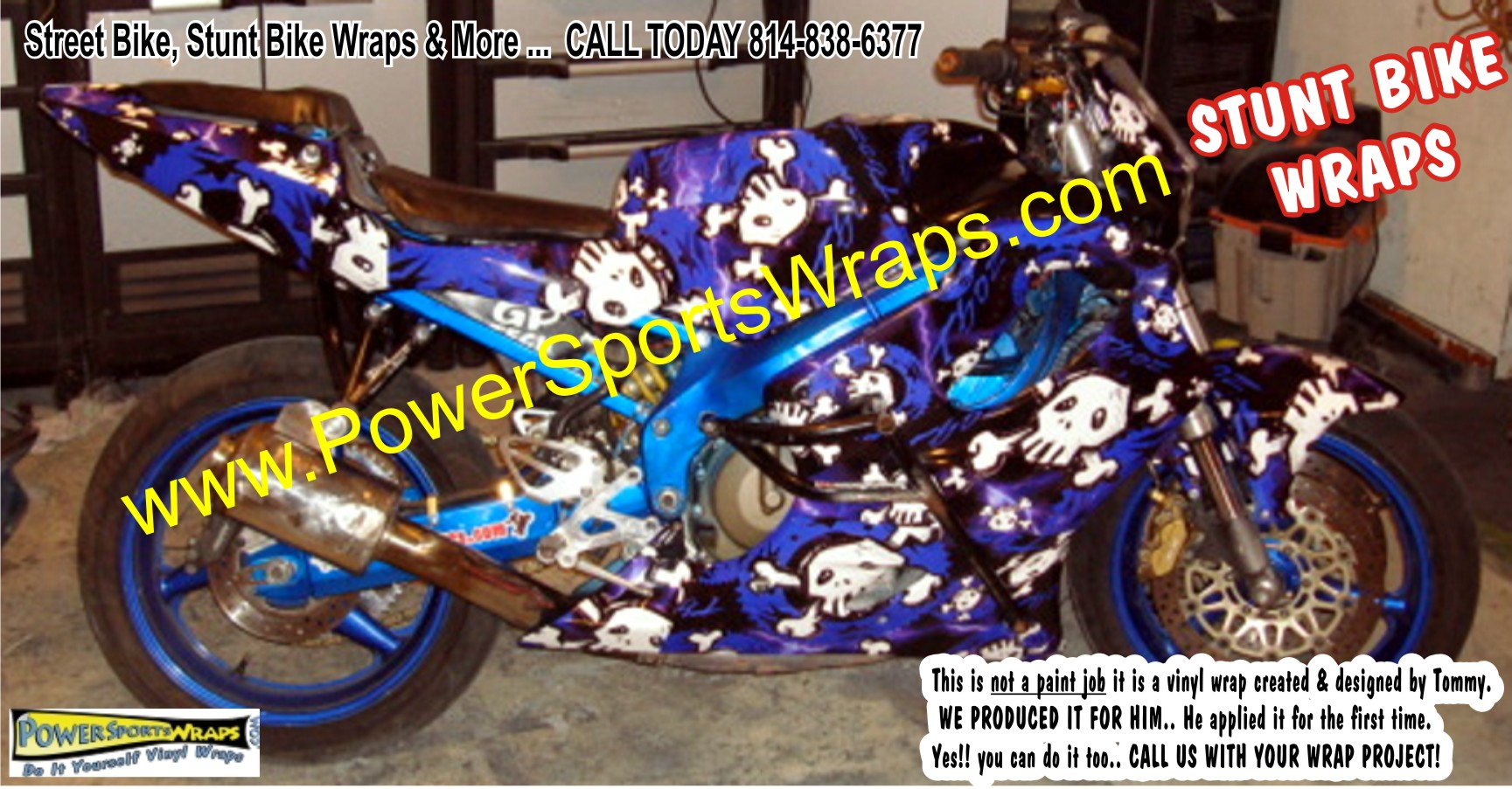Stunt Bike Vinyl Wrap Archives Powersportswrapscom - Vinyl bike wrapmotorcycle wrap archives powersportswrapscom