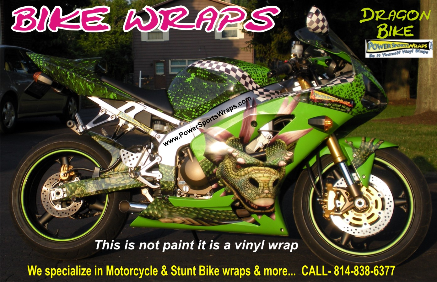 Bike wraps custom motorcycle wraps looks like paint cost way less