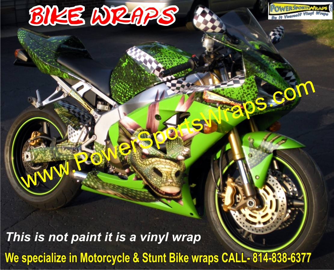 Dragon Bike Wrap Kawasaki 636 Vinyl Bike Wrap