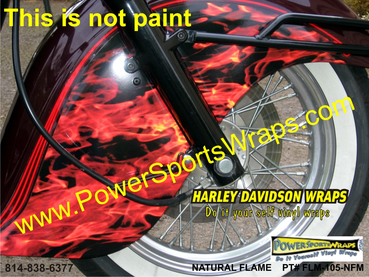 Harley Davidson Vinyl Flame Wrap Harley Flame Harley Flame - Vinyl pinstripes for motorcycles
