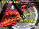 Harley Davidson flame in vinyl wrap