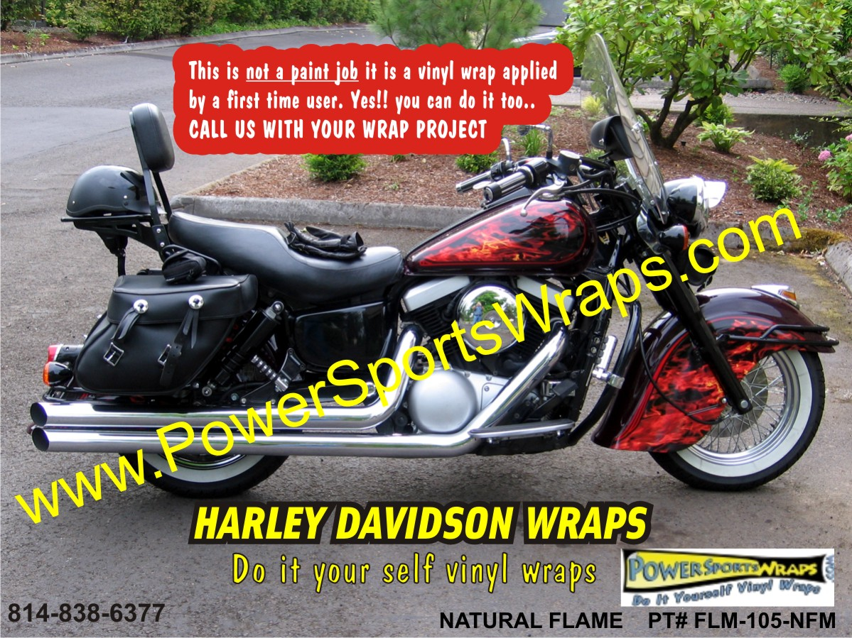 Harley Davidson Vinyl Flame Wrap Harley Flame Harley Flame - Harley davidson custom vinyl stickers