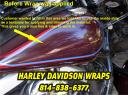Harley Davidson wrap technique & application idea for bagger