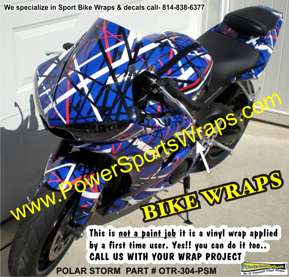 Polar Storm Yamaha R6 Bike Wrap Motorcycle Wraps Bike