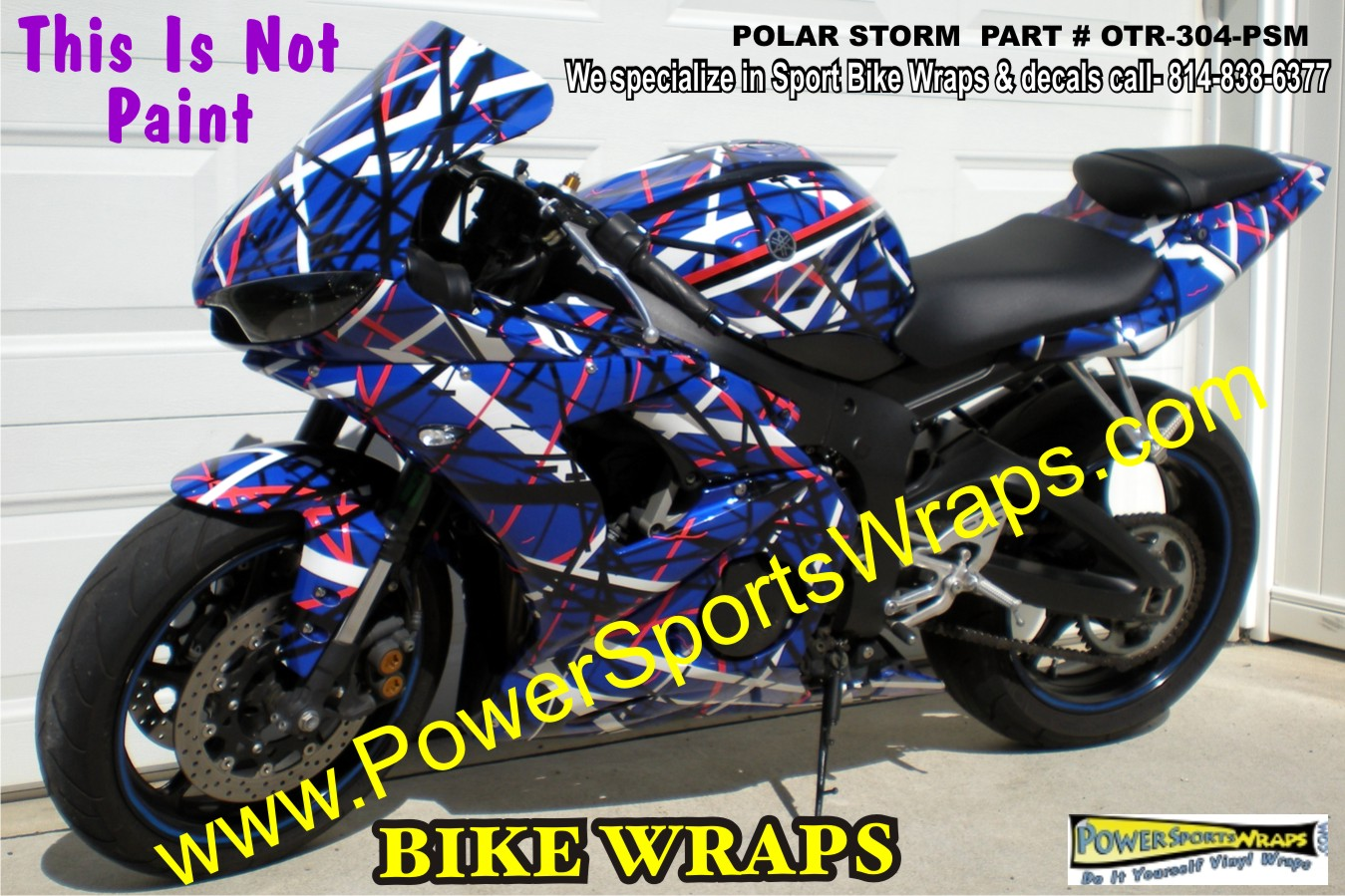Polar Storm YAMAHA R BIKE WRAP MOTORCYCLE WRAPS BIKE WRAP - Custom vinyl decals motorcycles