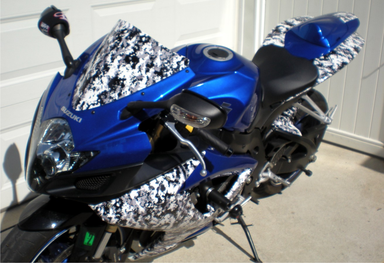 BIKE WRAP, BIKE WRAPS, CAMO MOTORCYCLE