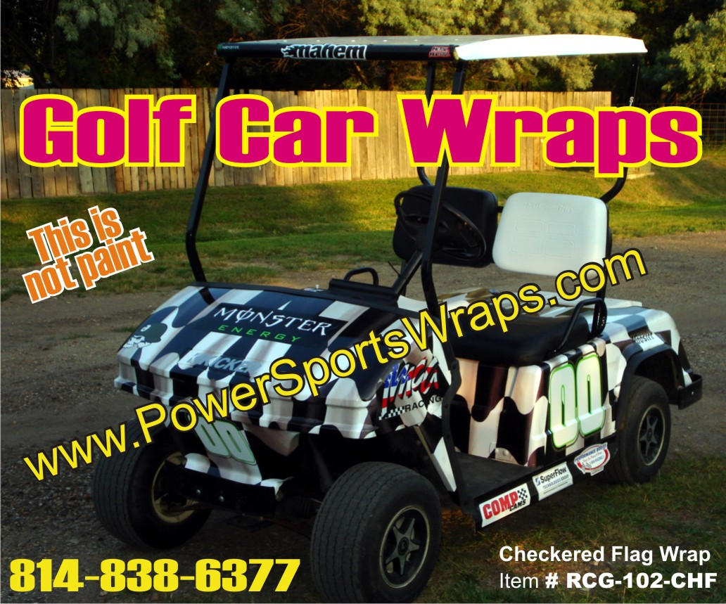 Race Team Wraps Golf Car Wraps Golf Cart Wrap 00