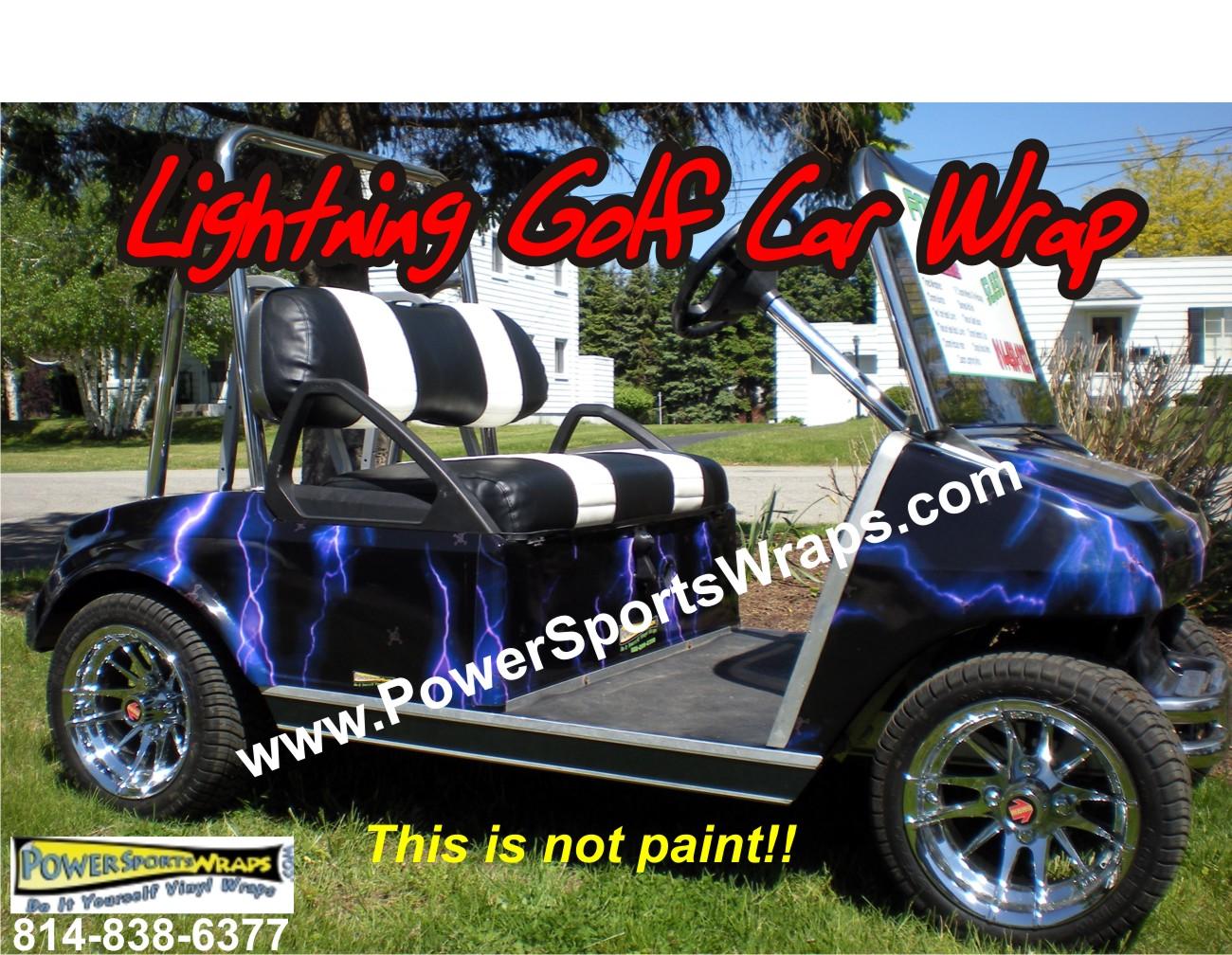 Lightning purple golf car vinyl wrap golf car decals wraps lightning golf cart vinyl wrap for under 40000 wow save do it yourself apply solutioingenieria Choice Image