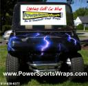golf car decal wrap in vinyl, just peel & stick do it yourself don't paint cost under $400.00 to do this. call 814-838-6377
