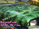 Jeep Wrangler wrap, vinyl jeep CJ wrap in riveted metal green, do it your self wraps.. save money