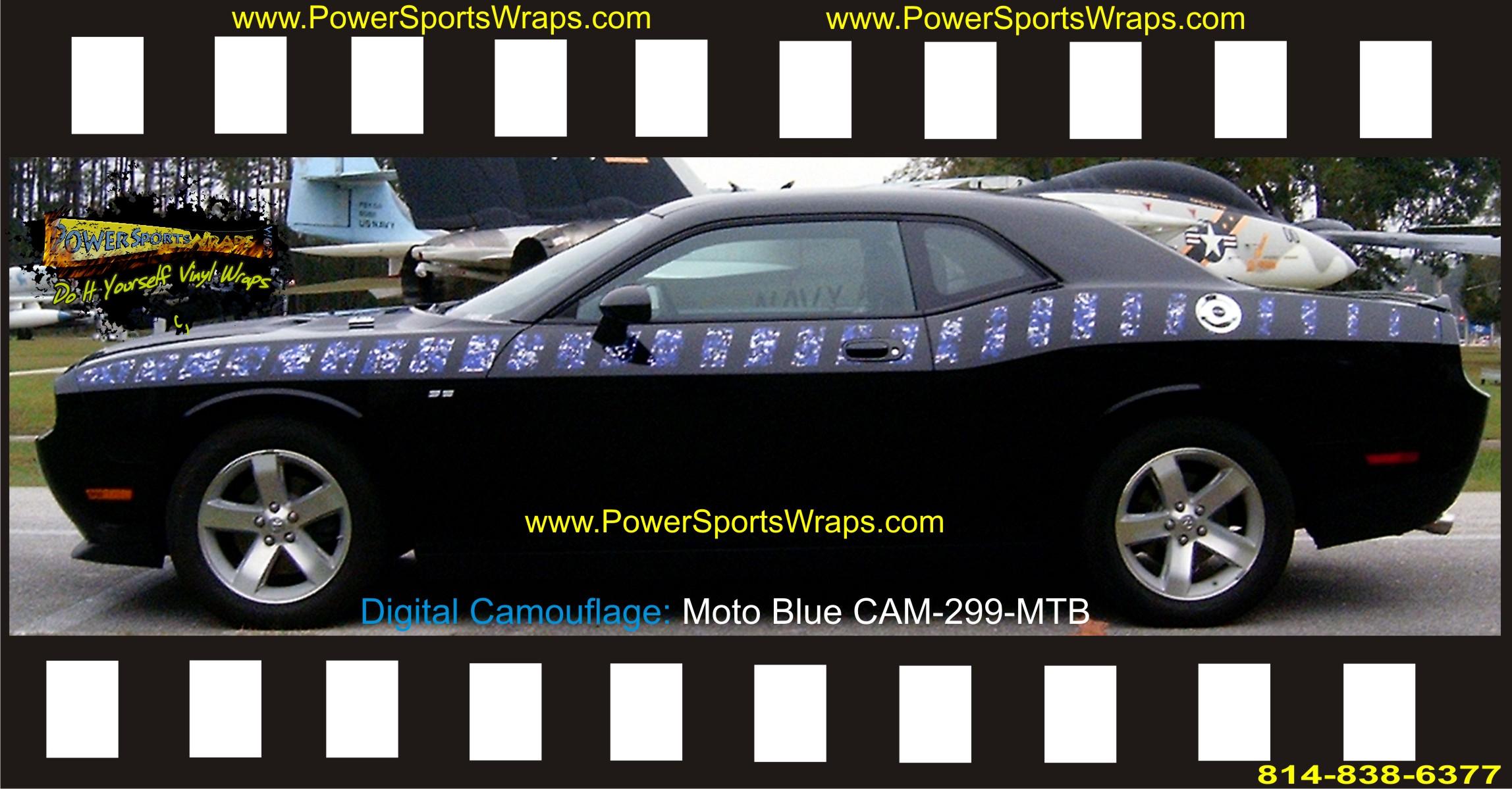 2010 Dodge Challenger Custom Digital Camo Graphics Moto
