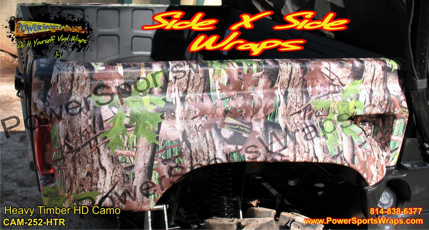 Rhino camo vinyl, Yamaha, camo decals, tree camo, side x side, utv camo 814-838-6377