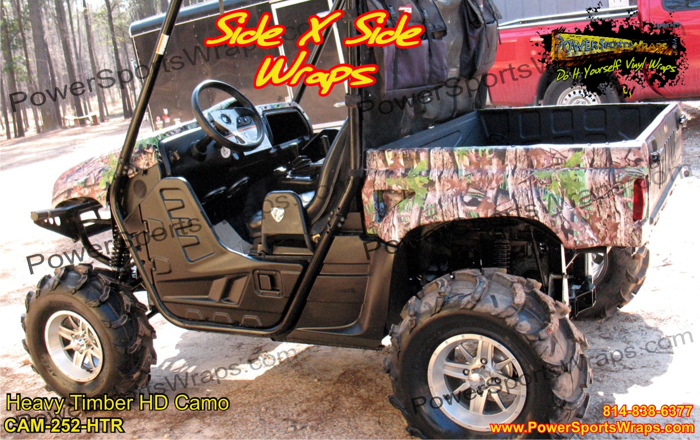 utv camo vinyl, camo covering, camouflage, tree camo, camo decals, camo graphics, hunting camo 814-838-6377
