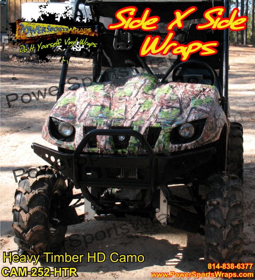 Heavy Timber Hd Camo Vinyl Side X Side Wrap Yamaha Rhino
