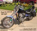 Suzuki Intruder 1400 flame vinyl wrap- save $$ do it yourself powersportswraps.com