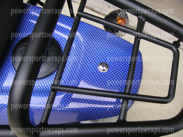 Genuine rattler scooter wraps blue carbon fiber vinyl scooter decals scooter graphics