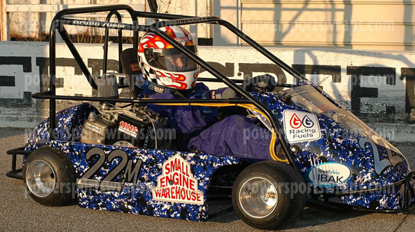moto blue racing go kart wrap, vinyl wraps for gokarts from powersportswraps.com