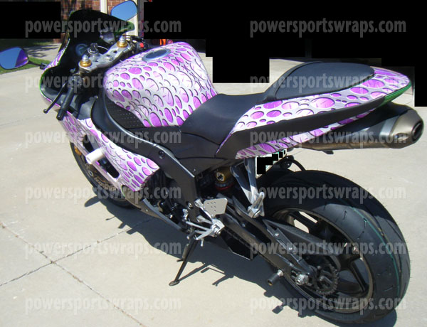 Sport bike wrap bike decals custom bike wrap motorcycle decals for kawasaki zx6