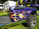golf car decal kit, custom golf car flames, golf cart flames