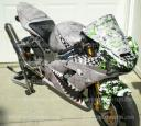 P40 warhawk flying tigers bike wrap, peel & stick apply, do it yourself & save $$ powersportswraps.com