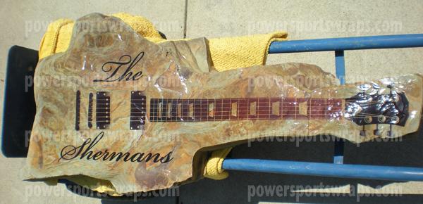 vinyl wrap, guitar wrap, rock guitar, slate rock wrap, vinyl guitar, guitar image, stone wrap,  Powersportswraps.com