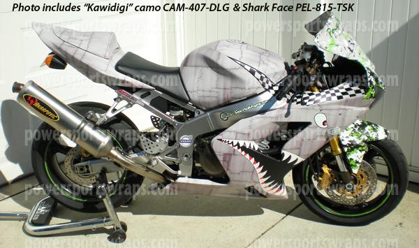 P40 Warhawk Flying Tigers Shark Face Bike Wrap Peel
