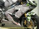 Flying Tigers bomber bike, P40 shark face sport bike wrap, do it your self bike wraps shop online PowerSportsWraps.com