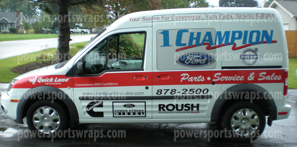 Ford Transit Connect Lettering Commercial Wraps