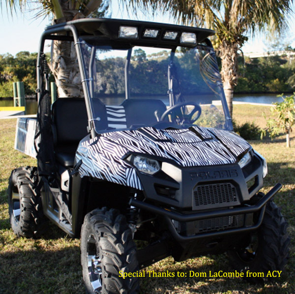 Polaris Ranger vinyl wrap, decals & more.. We have a large selection of of wraps for all makes of UTV's, Side x sides & utility vehicles. Powersportswraps.com