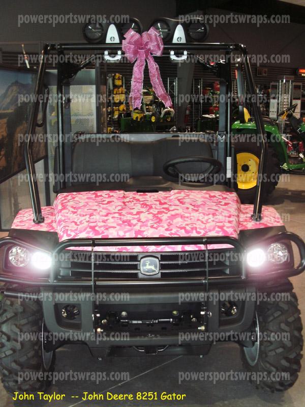 Pink Camo wrap on John Deere Gator 825i, Camo, Pink camo, camouflage, discount camo, camo sale, Side X Side wraps,