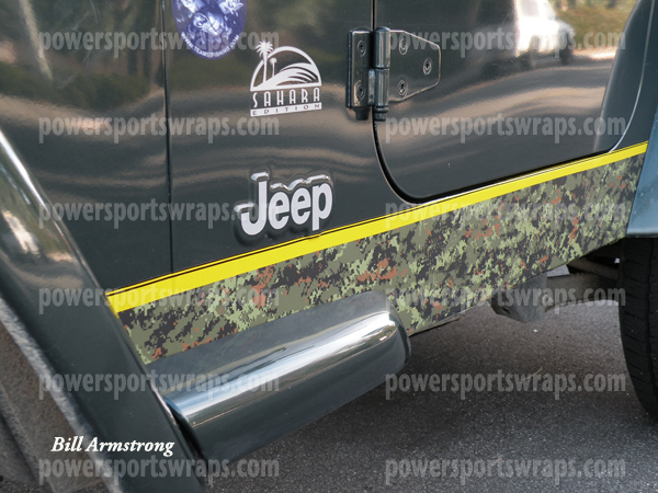 Custom Jeep wrap in Camo film, DIY Camo film, Do it yourself camouflage, Peel & stick